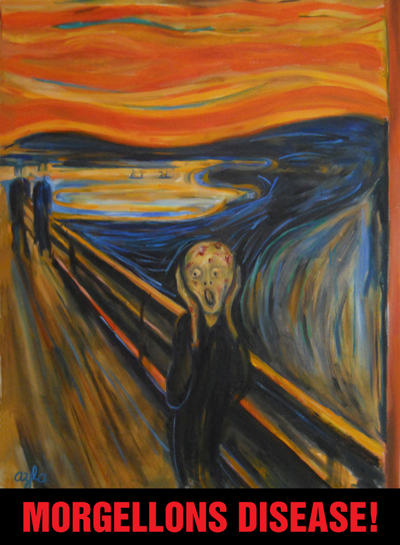 Morgellons painting no. 3 The Scream